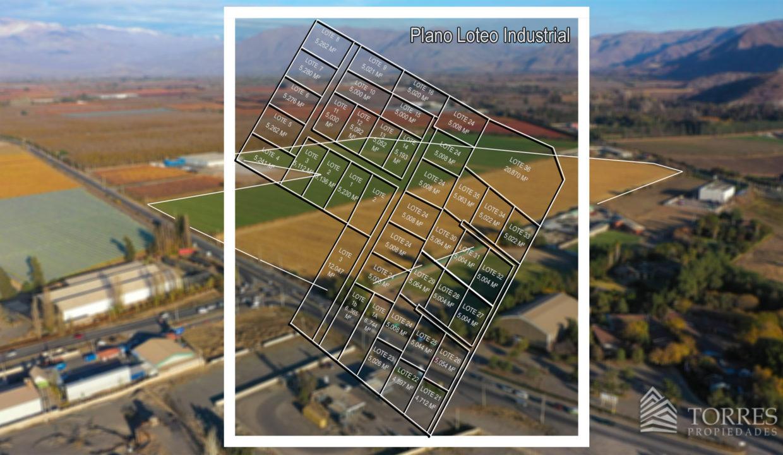 plano loteo industrial en foto